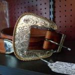 Genuine Leather Belts with Silver Plated Montana Silver Smith Buckles