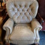 Large leather chair comfortable