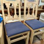 wood and cushion dining room chairs