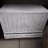 White wicker cupboard with drawer