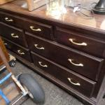 Nine (9) drawer dresser