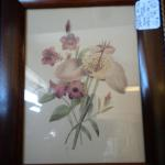 Set of Two (2) 1941 Fischer  Floral Pastel Prints New York, USA Excellent Condition