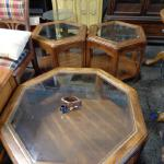 Pentagon Coffee Table and Matching Two End Tables