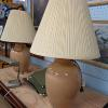 two sand color lamps with off white shade (sold seperately or together)